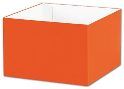 "Orange Gift Box Bases, 6 x 6 x 4"""