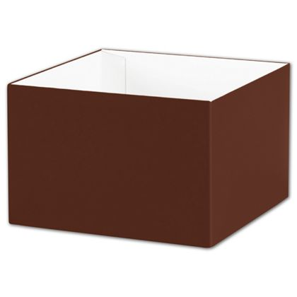 "Chocolate Gift Box Bases, 6 x 6 x 4"""