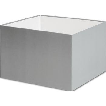 Silver Gift Box Bases, 6 x 6 x 4