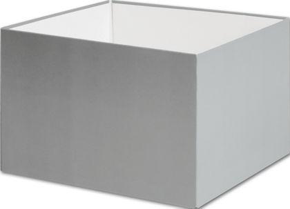 "Silver Gift Box Bases, 6 x 6 x 4"""