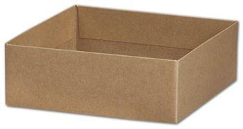 Kraft Gift Box Bases, 6 x 6 x 2 1/8