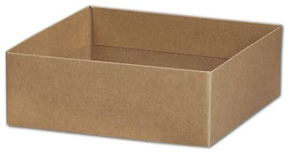 "Kraft Gift Box Bases, 6 x 6 x 2 1/8"""