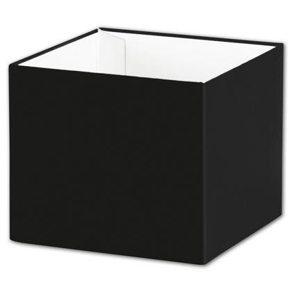 "Black Gift Box Bases, 4 x 4 x 3 1/2"""