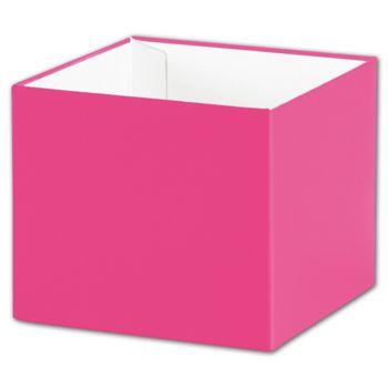 Fuchsia Gift Box Bases, 4 x 4 x 3 1/2