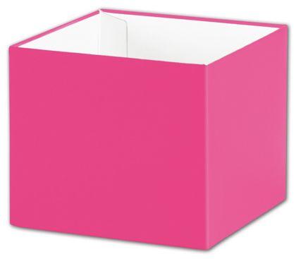 """Fuchsia Gift Box Bases, 4 x 4 x 3 1/2"""""""