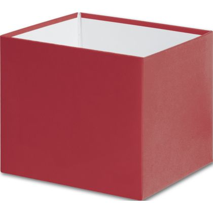 Red Gift Box Bases, 4 x 4 x 3 1/2""