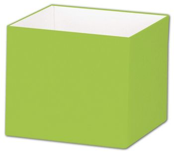 Lime Green Gift Box Bases, 4 x 4 x 3 1/2