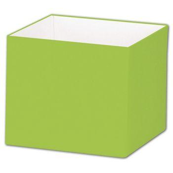 Lime Green Gift Box Bases, 4 x 4 x 3 1/2