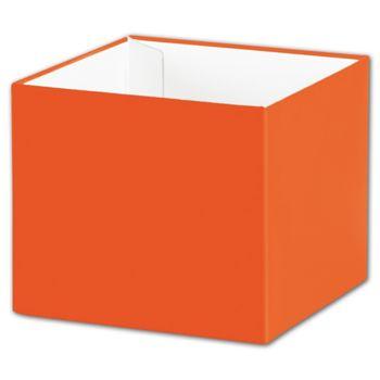 Orange Gift Box Bases, 4 x 4 x 3 1/2