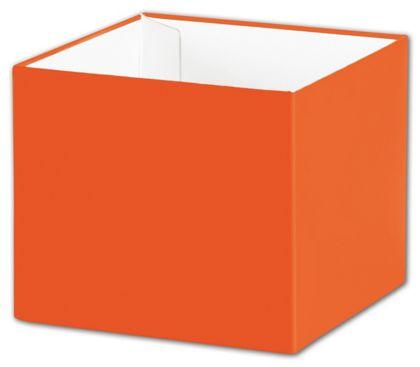 "Orange Gift Box Bases, 4 x 4 x 3 1/2"""