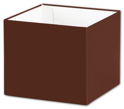 "Chocolate Gift Box Bases, 4 x 4 x 3 1/2"""