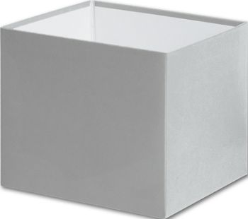 Silver Gift Box Bases, 4 x 4 x 3 1/2