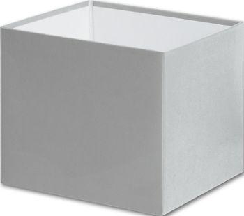 Silver Gift Box Bases, 4 x 4 x 3 1/2