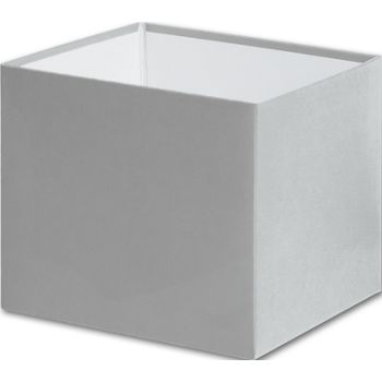 Silver Gift Box Bases, 4 x 4 x 3 1/2""