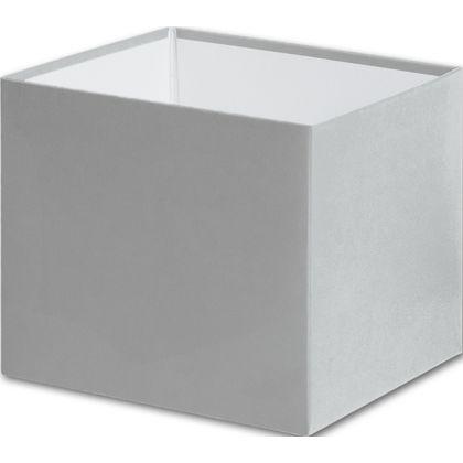"Silver Gift Box Bases, 4 x 4 x 3 1/2"""