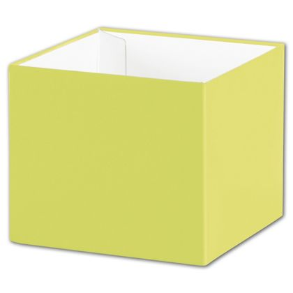 "Pistachio Gift Box Bases, 4 x 4 x 3 1/2"""
