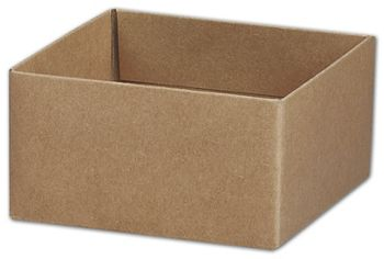 Kraft Gift Box Bases, 4 x 4 x 2 1/8