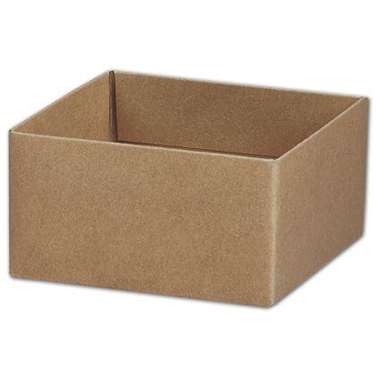 "Kraft Gift Box Bases, 4 x 4 x 2 1/8"""