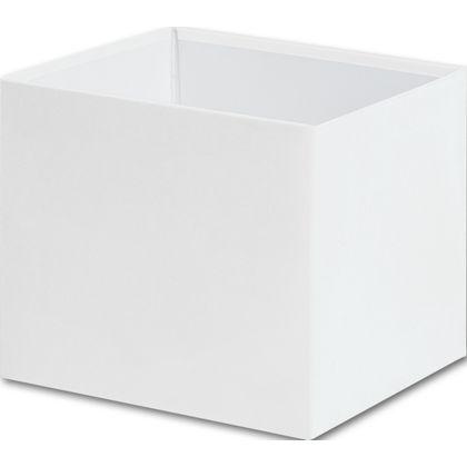 """White Gift Box Bases, 4 x 4 x 3 1/2"""""""
