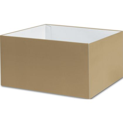 "Gold Gift Box Bases, 10 x 10 x 5 1/2"""