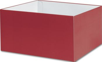 Red Gift Box Bases, 10 x 10 x 5 1/2