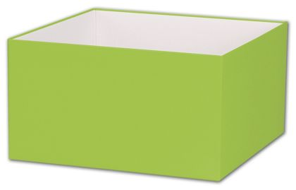 Lime Green Gift Box Bases, 10 x 10 x 5 1/2""
