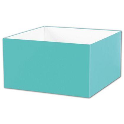 "Robin's Egg Blue Gift Box Bases, 10 x 10 x 5 1/2"""