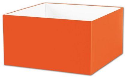 "Orange Gift Box Bases, 10 x 10 x 5 1/2"""