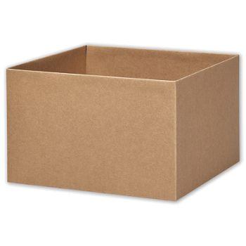 Kraft Gift Box Bases, 10 x 10 x 5 1/2