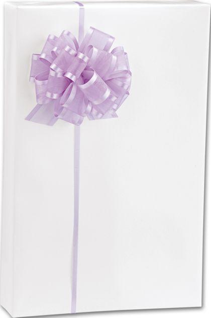 "White Gloss Gift Wrap, 24"" x 100'"
