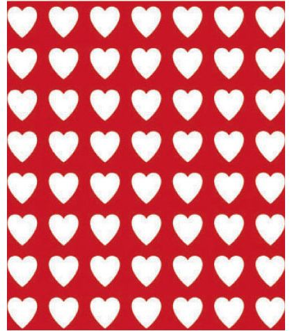 "Valentines Gift Wrap, 24"" x 100'"