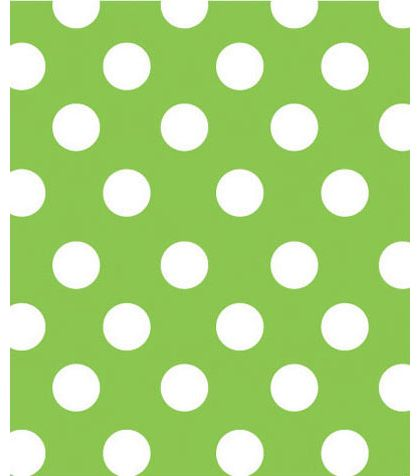 "Lime Sunny Dots Gift Wrap, 24"" x 100'"