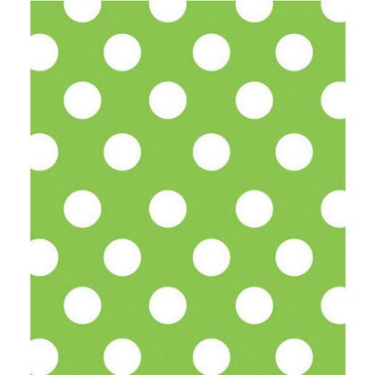 "Lime Sunny Dots Gift Wrap, 24"" x 417'"