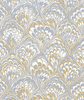 Gold & Silver Feather Gift Wrap, 24