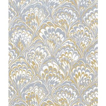 "Gold & Silver Feather Gift Wrap, 24"" x 417'"