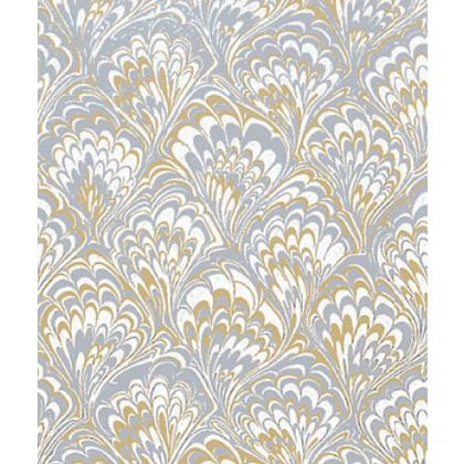 "Gold & Silver Feather Gift Wrap, 24"" x 100'"
