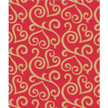 Scrolled Hearts Gift Wrap, 24