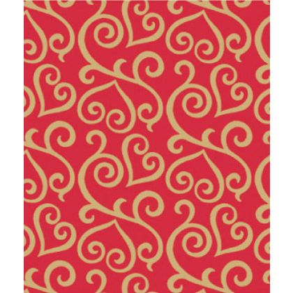 "Scrolled Hearts Gift Wrap, 24"" x 100'"