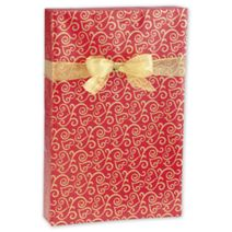 """Scrolled Hearts Jeweler's Roll Gift Wrap, 7 3/8"""" x 100'"""