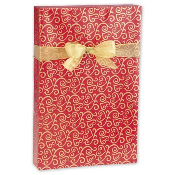 Scrolled Hearts Jeweler's Roll Gift Wrap, 7 3/8