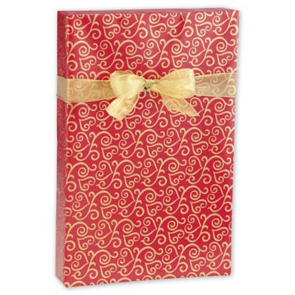 "Scrolled Hearts Jeweler's Roll Gift Wrap, 7 3/8"" x 100'"