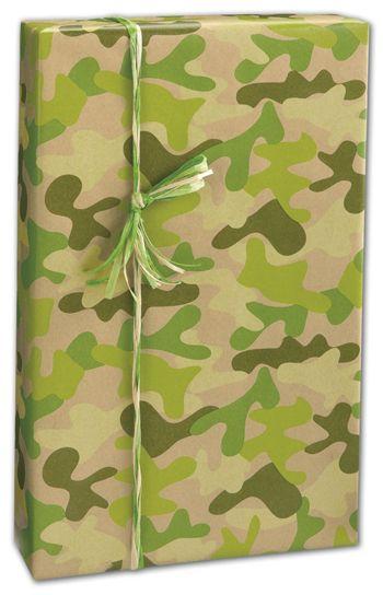 Kraft Camo Gift Wrap, 24