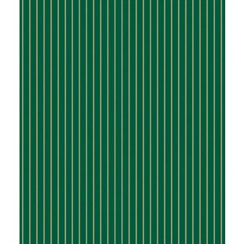 "Gold & Green Stripe Gift Wrap, 24""x100'"