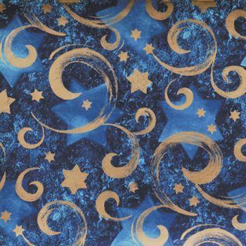 Gold Star Chanukah Gift Wrap, 24