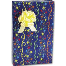 """Stars and Streamers Gift Wrap, 24"""" x 100'"""