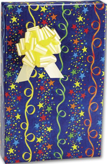Stars and Streamers Gift Wrap, 24