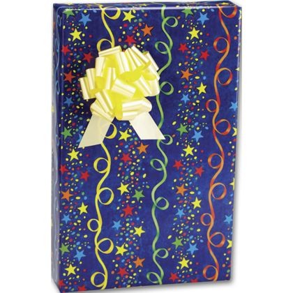 "Stars and Streamers Gift Wrap, 24"" x 100'"