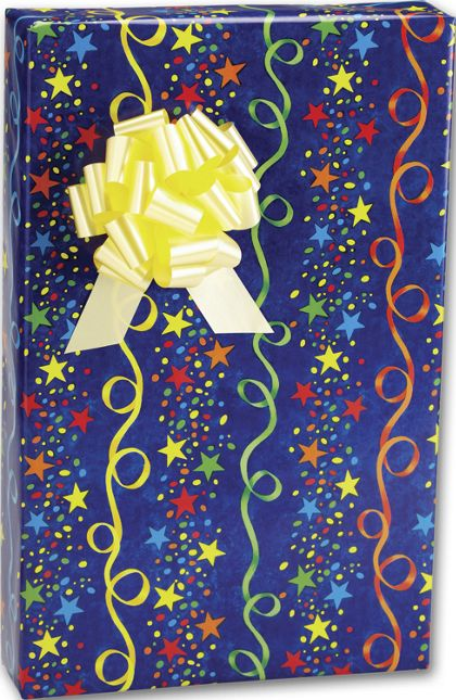 "Stars and Streamers Gift Wrap, 24"" x 417'"
