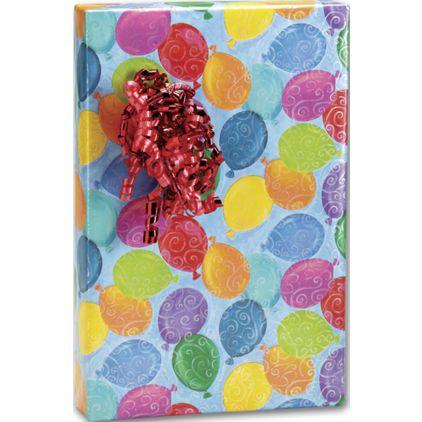 "Balloons Galore Gift Wrap, 24"" x 100'"