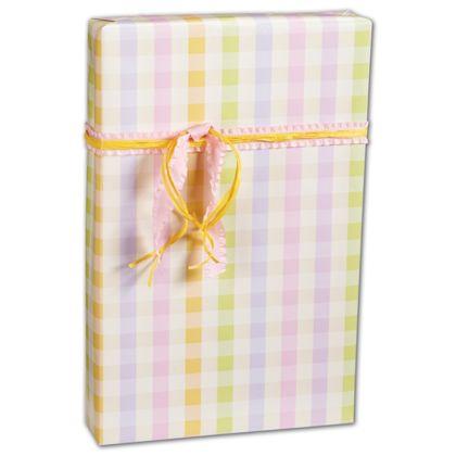 "Pastel Plaid Gift Wrap, 24"" x 100'"